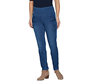 Women with Control Tummy Control Prime Stretch Denim Novelty Jeans - A301407