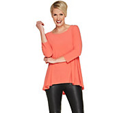 Attitudes by Renee Moss Crepe Shirred Back Top - A302007