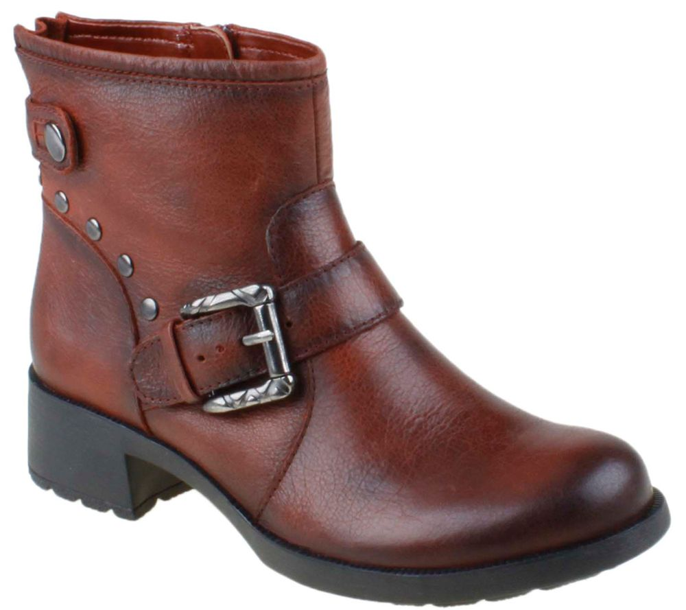 earth shoe redwood leather ankle boots page 1 qvc