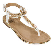 Rialto Embellished Thong Sandals w/ Ankle Strap- Zora - A336507