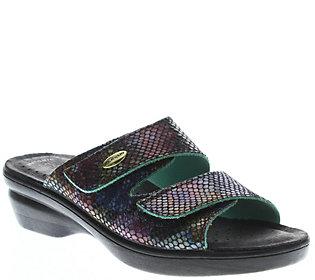 Flexus by Spring Step Leather Slide Sandals - Kina