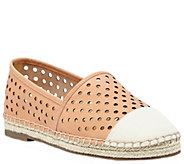 Sole Society Perforated Leather Espadrilles - Elodie - A340407