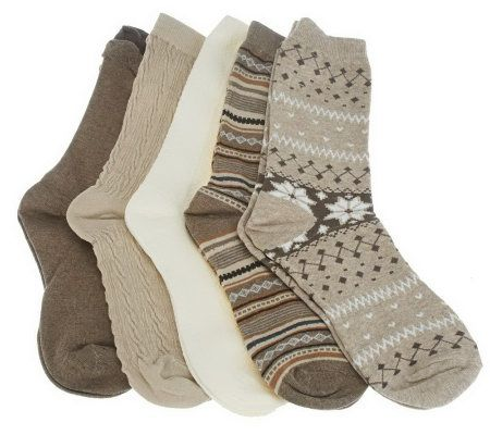 Passione Calze Set of 5 Luxury Crew Socks - A226208