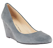 Isaac Mizrahi Live! Round Toe Suede Wedges - A234808