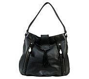As Is Muxo by Camila Alves Pebble Leather and Suede Slouchy Hobo - A257008