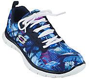 Skechers Printed Mesh Sneakers w/ Memory Foam - Floral Boom - A265508