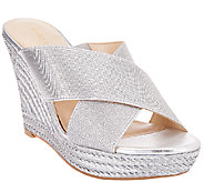 Marc Fisher Criss Cross Espadrille Wedges - Engage - A266508
