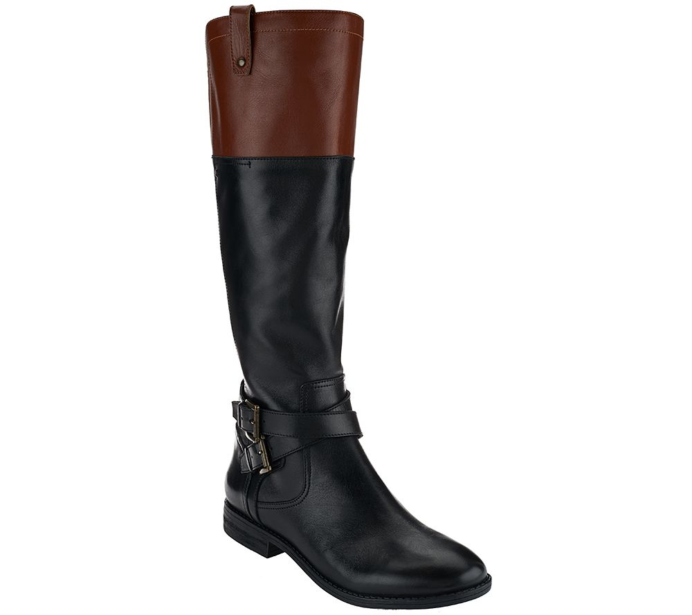 Marc Fisher Medium Calf Leather Riding Boots - Audrey - Page 1 ...