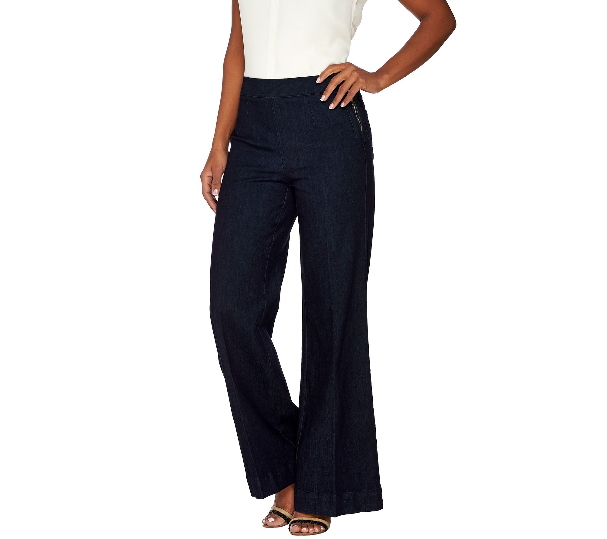 G.I.L.I. Regular Wide Leg Denim Jeans - Page 1 — QVC.com
