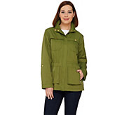 C. Wonder Water Resistant Long Sleeve Hooded Anorak Jacket - A275108