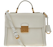 Isaac Mizrahi Live! Whitney Pebble Leather Top Handle Handbag - A276208