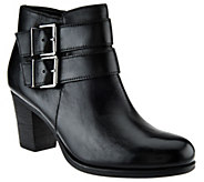 As Is Clarks Artisan Leather Ankle Boots w/ Buckle - Palma Rena - A277708