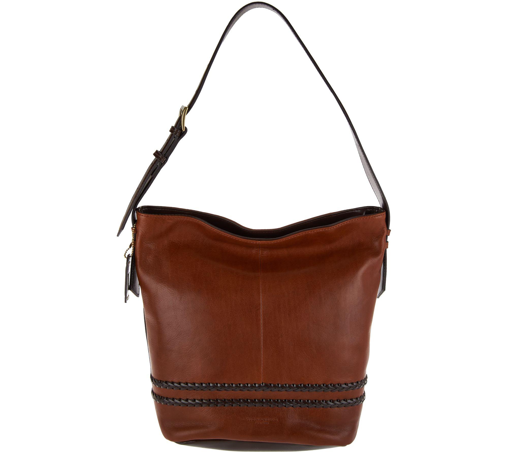 Tignanello Vintage Leather RFID Bucket Hobo Bag - Page 1 — QVC.com