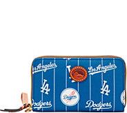 Dooney & Bourke MLB Nylon Dodgers Zip Around Phone Wristlet - A281708