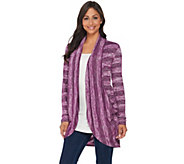 LOGO by Lori Goldstein Sweater Knit Cocoon Cardigan with Pockets - A283008