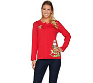 Quacker Factory Holiday Fun Long Sleeve Snap Front Cardigan - A283308