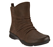 Earth Leather Boots with Ruching - Treasure - A284108