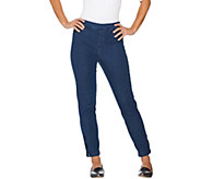 Isaac Mizrahi Live! 24/7 Denim Ankle Jeans with Zips - A285408