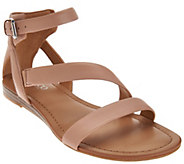 As Is Franco Sarto Leather Multi-strap Sandals - Gracia 2 - A286408