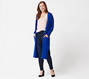 Linea by Louis DellOlio Whisper Knit Long Cardigan - A287608