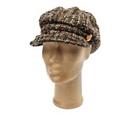 As Is Collection XIIX Boucle Cabby Hat with Stone Jewel Accent - A291208