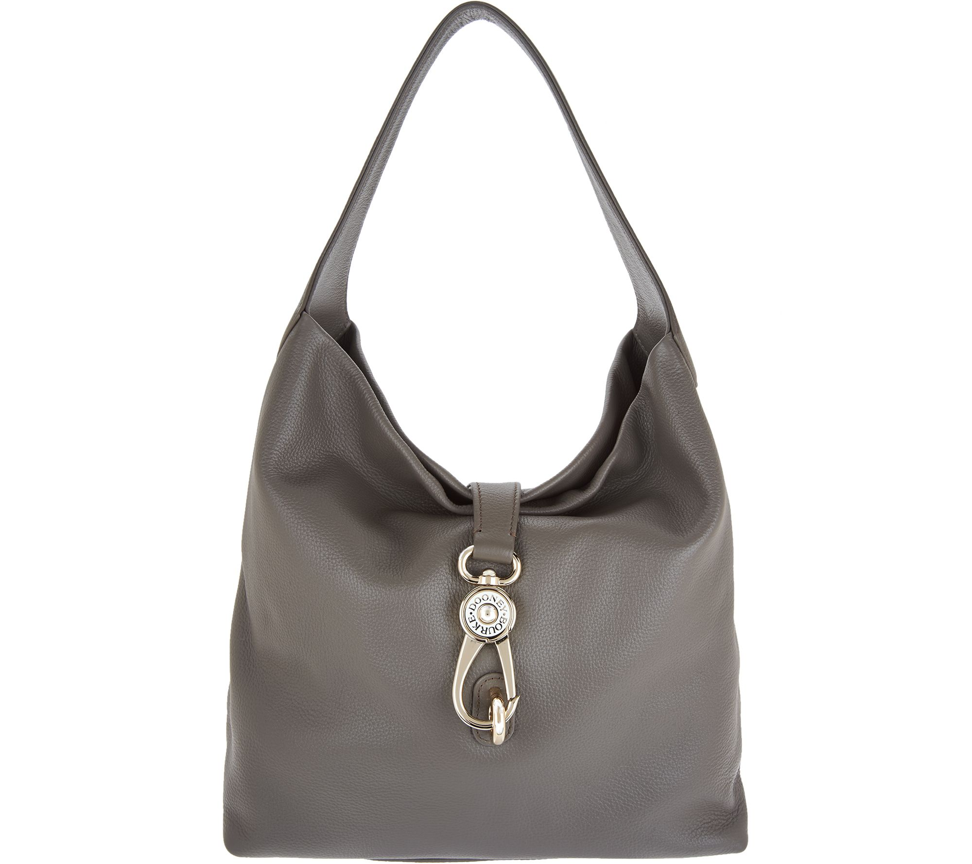 Dooney & Bourke Belvedere Leather Hobo with Logo Lock - Page 1 ...