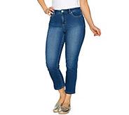Denim & Co. Stretch Denim 5 Pocket Crop Pants - A293708