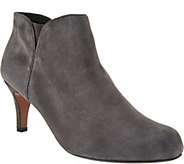 Clarks Leather or Suede Side Zip Ankle Booties- Arista Page - A295308