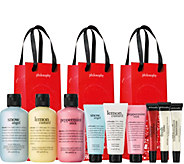 philosophy 9-piece holiday gifting collection with gift bags - A298608