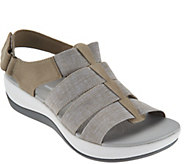 As Is Clarks Cloud Steppers Sport Sandals - Arla Shaylie - A300408