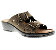 Flexus by Spring Step Decca Leather Slide Sandals - A332008