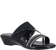 Tuscany by Easy Street Embellished Slide Sandals - Velino - A356808