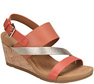 Comfortiva Leather Wedge Sandals - Vail - A412708