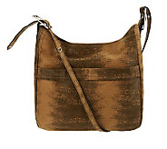 B. Makowsky Leather Adjustable Shoulder Bag w/Front Pockets - A229009