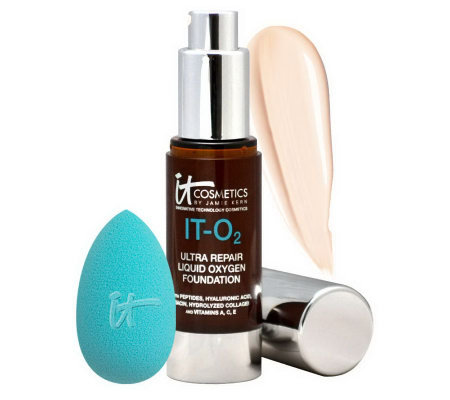 IT Cosmetics IT-O2 Oxygen Liquid Foundation with Sponge