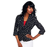 Joan Rivers Starry Night Jacket with 3/4 Sleeves - A232409