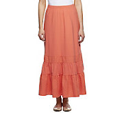 Liz Claiborne New York Eyelet Trimmed Knit Maxi Skirt - A232709