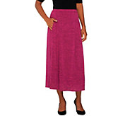 Linea by Louis DellOlio Pull-On Knit Skirt w/ Pleat Detail - A235309