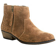 White Mountain Suede Ankle Boots w/ Stud Detail - Jackie - A236909