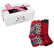 Isaac Mizrahi Live! Set of 3 Patterned Socks with Gift Box - A238809