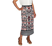 Linea by Louis DellOlio Placement Printed Pull On Skirt - A254309