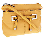 Tignanello Pebble Leather Organizer Crossbody with Bow Detail - A255209