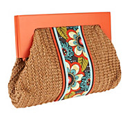 Vera Bradley Straw Clutch with Magnetic Closure - A256209