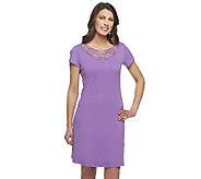 Liz Claiborne New York Knit Dress with Lace Detail - A256809