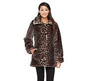 Dennis Basso Faux Sheared Mink Fur Coat - A260409