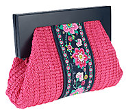 As Is Vera Bradley Straw Cutch with Magnetic Closure - A261009