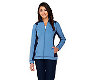 Denim & Co. Active Duo-Stretch Zip Front Jacket - A261809