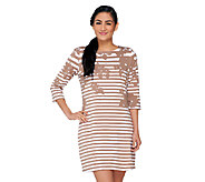 Liz Claiborne New York Printed Stripe Knit Dress - A262109