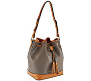 Dooney & Bourke Embossed Pebble Leather Drawstring Bag - A263109