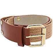 Isaac Mizrahi Live! Leather Stretch Waist Belt - A264209